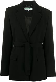 Kenzo Blazer Com Cinto - Preto
