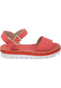 Anabela Flat Form Palm Coral Coral/38