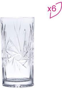 Conjunto De Copos Altos Prima- Cristal- 6Pçs- 32Lyor