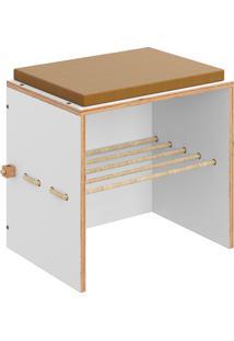 Puff C/ Futon Cordel – Be Mobiliário - Branco