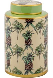 Vaso Decorativo De Porcelana Rondon - Linha Pineapple