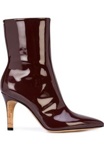 Maison Margiela Ankle Boot Bico Fino - Burgundy