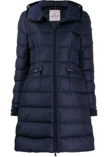 Moncler Hooded Padded Coat - Azul