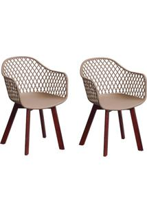 Conjunto Com 2 Cadeiras Siberian Tulipa Fendi