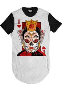 Camiseta Skull Clothing Longline Queen Masculina - Masculino