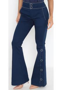 Jeans Flare Fit Camila - Azul Escuromorena Rosa