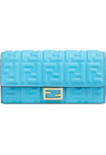 Fendi Carteira Continental - Azul