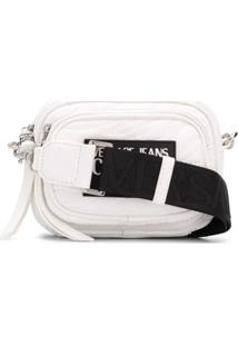 Versace Jeans Couture Quilted Logo Shoulder Bag - Branco