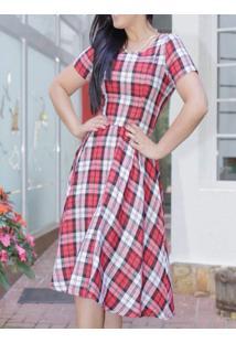 Vestido Xadrez Flanelado