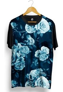 Camiseta Bsc Blue Rose Full Print - Masculino