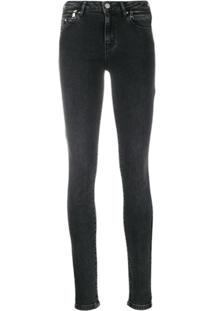 Karl Lagerfeld Calça Jeans Biker - Preto