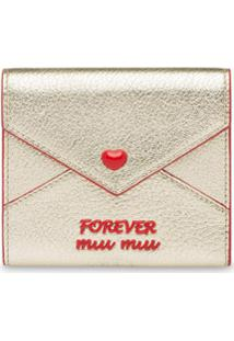 Miu Miu Carteira 'Madras Love' - Prateado