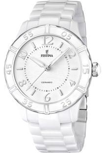 Relógio Festina Feminino Cerâmica Branca - F16621/1