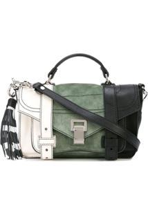 Proenza Schouler Bolsa Ps1+ Tiny Color Block - Branco