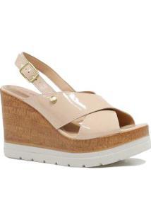 Sandália Zariff Shoes Plataforma Verniz