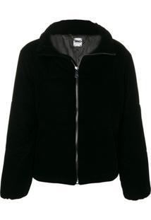 Liu Jo Velvet Puffer Jacket - Preto
