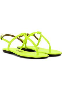 Rasteira Santa Lolla Dedo Neon Feminina - Feminino-Verde Limão