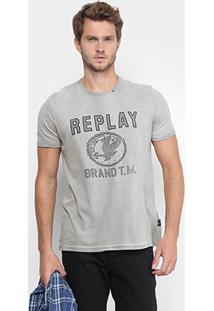 Camiseta Replay Brand Masculina - Masculino