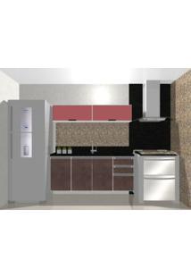 Cozinha Modulada Embut - 1,60M - 2 Basculas - 3 Gavetas - 3 Portas