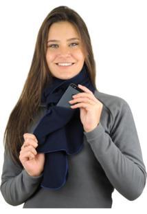 Cachecol Térmico Fiero Thermo Fleece Azul Marinho