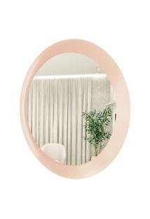 Espelho Decorativo Paella Rosa 60 Cm Redondo