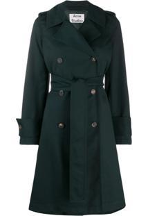 Acne Studios Trench Coat Acinturado - Verde