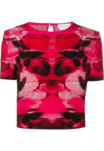 Alexander Mcqueen Blusa De Tricô Com Padronagem - Vermelho