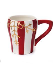 Caneca Chã¡ Cafã© Listras Natal Vermelha - Vermelho - Dafiti