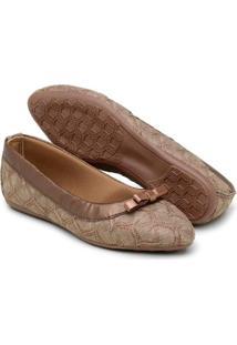 Sapatilha Gomes Shoes Renda Bico Fino Feminina - Feminino-Marrom