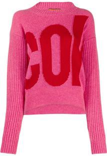 Colville Suéter Com Logo Bordado - Rosa