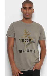 Camiseta Foxton Tropic Estonada Masculina - Masculino