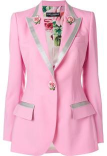Dolce & Gabbana Blazer 'Farfalle Rosa'
