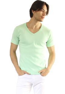 Camiseta Versatti Fran Gola V Verde