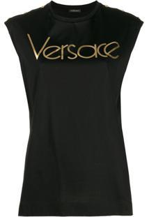 Versace Regata Com Logo - Preto