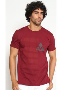 "Camiseta ""Textura""- Vinho & Cinza- Vip Reservavip Reserva"