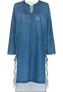 Loewe Vestido Reto Jeans - Azul