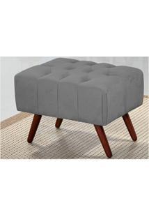 Puff Decorativo Triton 100Cm Chenili Cinza - Perfan
