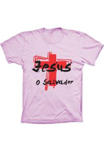 Camiseta Lu Geek Manga Curta O Salvador Rosa