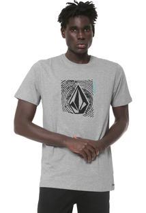Camiseta Volcom Stonar Waves Cinza
