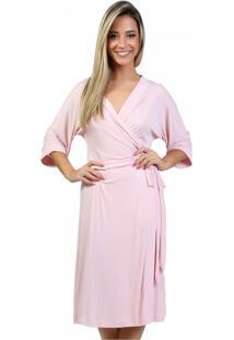 Robe Mardelle Em Microfibra Rosa - Rosa - Feminino - Dafiti