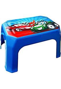 Banqueta Cadeira Banquinho Infantil Carros Azul Meninos