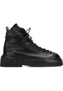 Marsèll Ankle Boot Salto Bloco - Preto