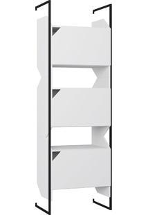 Estante 3 Portas C/ Suporte Soul – Be Mobiliário - Branco