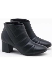 Ankle Boot Modare Matelassê Preto