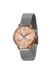 Kit Relógio Feminino Lince Lrt4651L-Kx56R3Sx Analógico 5Atm + Pulseira | Lince | Rosa | U