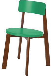 Cadeira Lina Cor Cacau Com Verde Anis - 31544 - Sun House