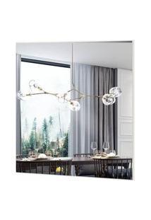 Espelho Quadrado Mercury Medio Cor Off White 45 Cm (Larg) - 57972 Sun House