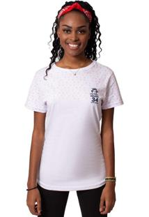 Camiseta Kings Sneakers Cropped Kings Logo Branco Feminina