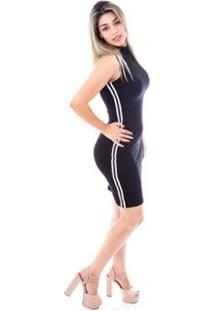 05b93d428f ... Vestido Moda Vicio Gola Alta Com Faixas Feminino - Feminino-Preto