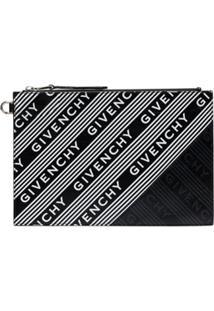 Givenchy Carteira Com Logo E Listras - Preto